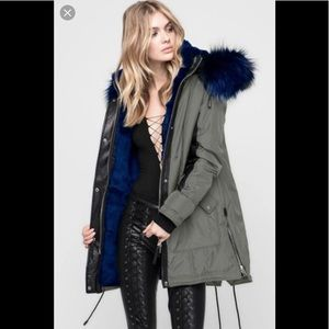 ♦️ Nicole Benisti Chelsea Coat in Military-Blue